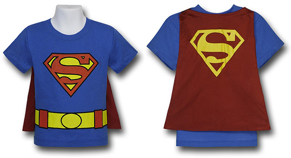 Kids Superman Cape T-Shirt Costume