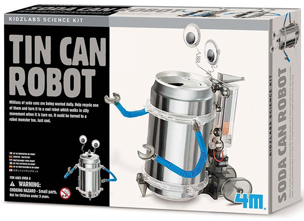 Kidzlabs Science Kit 4M Tin Can Robot