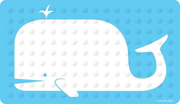 Kikkerland Whale Bath Mat