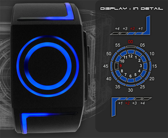Kisai Seven LED Watch