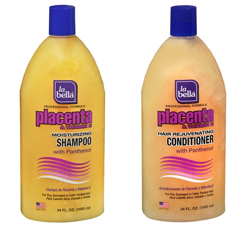 La Bella Placenta Shampoo and Conditioner