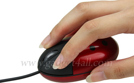 USB Ladybird Mouse