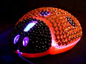 Ladybug Bling Bling Optical Mouse