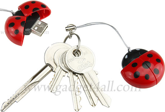 USB Ladybug T-Flash / MicroSD Card Reader