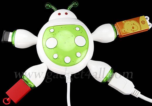 4-Port Ladybug USB Hub