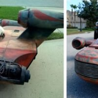 Full-Size Star Wars X-34 Landspeeder Replica
