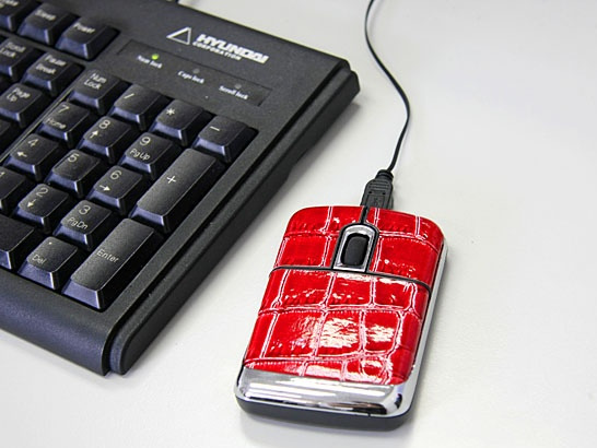 USB Leather Mouse
