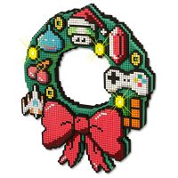 LED 8-Bit Christmas Wreath