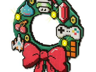 LED 8-Bit Christmas Wreath