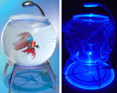 Globe Aquarium with LED Light