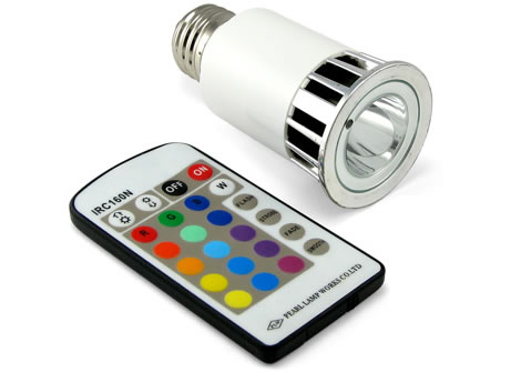 Multicolor LED Lightbulb with Remote