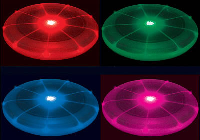 Multicolor LED Flying Disc