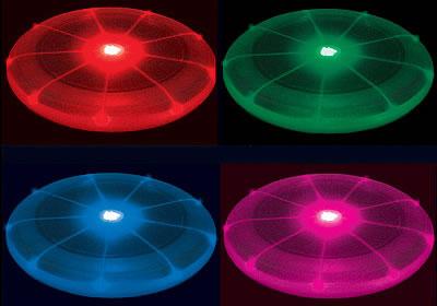Multicolor LED Flying Disc