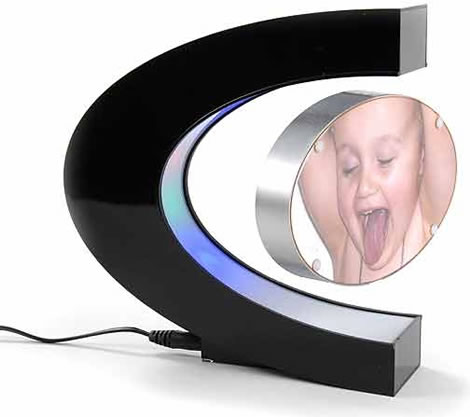 Levitating Multicolored LED Photo Frame
