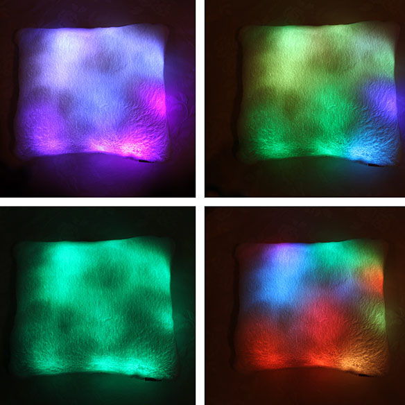 led mood light pillow