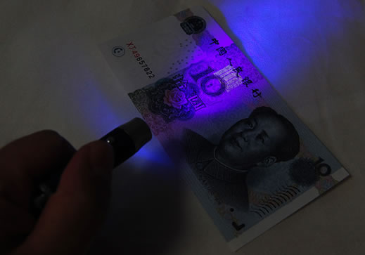 LED Flashlight with Laser Pointer and Money Checker