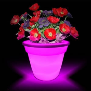 Color Changing LED Flowerpot