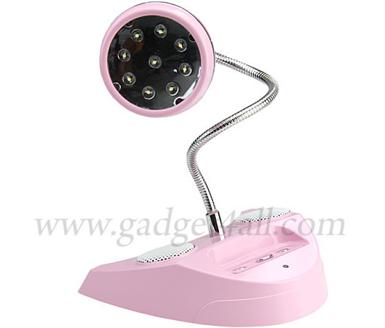USB Desk LED Lamp with Built-In Speaker