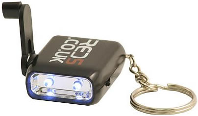 Wind-Up Keychain LED Torch