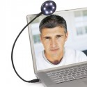 Webcam with LED Lights and Microphone
