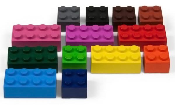 Lego Building Block Crayons