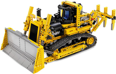 Motorized LEGO Bulldozer