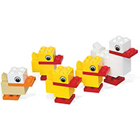 LEGO Duck with Ducklings Set