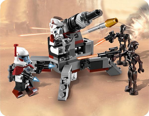 LEGO Elite Clone Trooper and Commando Droid Battle Pack