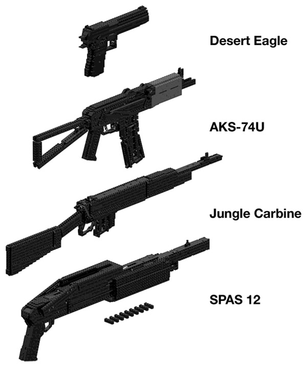 LEGO Gun Replicas from Heavy Weapons Book
