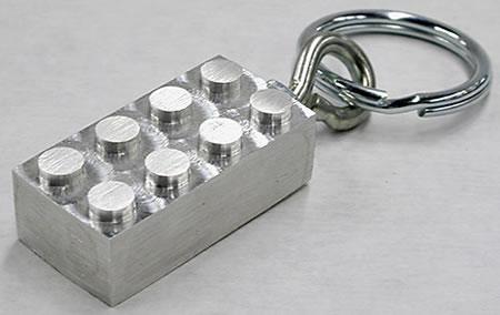 Aluminum LEGO Keychain