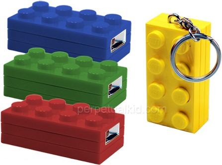 LED Lego Keychain