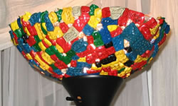 Melted LEGO Lamp