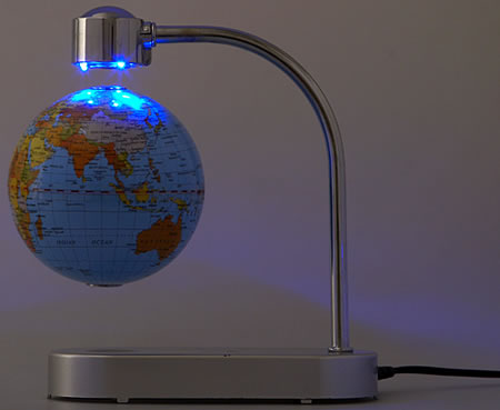 Levitating Globe with LED Lamp