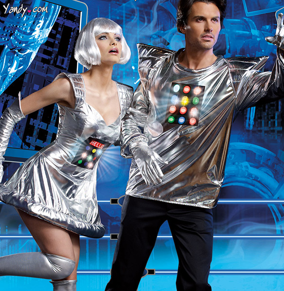 Light-Up Adult Space Robot Costumes