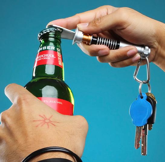Lightsaber Bottle Opener Key Chain