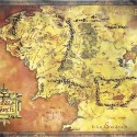 Lord Of The Rings Map Of Middle Earth Poster