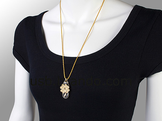Lucky Clover Flash Drive Necklace