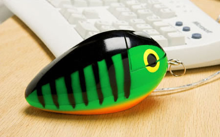 Fishing Lure Optical Computer Mouse