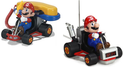 Mario Kart Alarm Clock and Phone