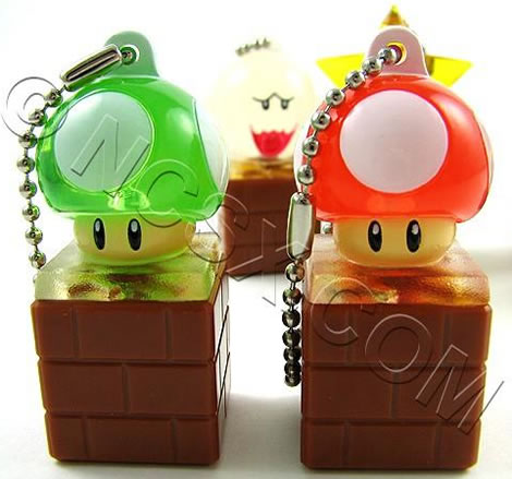 Super Mario Keychain Light