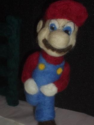 Needle Felted Mario