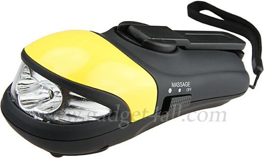 Wind-Up LED Flashlight with Massager
