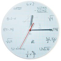 Pop Quiz Math Equations Wall Clock