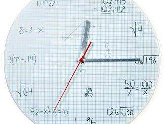 Pop Quiz Math Equations Wall Clock