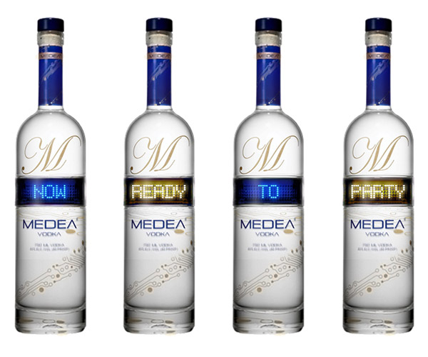 Medea Vodka Bottles with LED Display