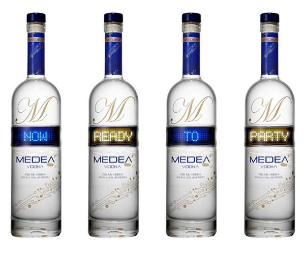 Medea Vodka Bottles with LED Display