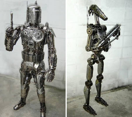 Amazing Sci Fi Metal Sculptures