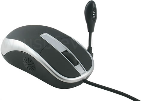 Computer Mouse with Speaker and Microphone