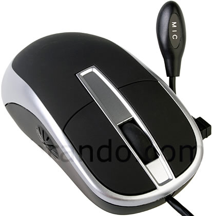 USB Mouse with Microphone and Speaker