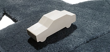 Miles wooden toy car